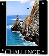 Cliff Divers Of Acapulco Acrylic Print