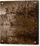 Cliff Face Northshore Mn Bw Acrylic Print