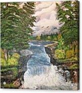 Cliff Falls Acrylic Print