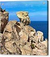 cliff in San Pietro island Acrylic Print