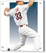 Cliff Lee Acrylic Print