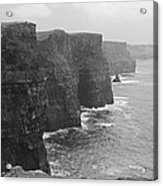 Cliff Of Moher Ireland Bw Acrylic Print
