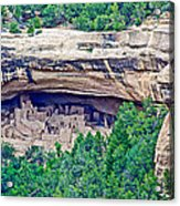 Cliff Palace From Chapin Mesa Top Loop Road In Mesa Verde National Park-colorado  Acrylic Print