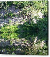 Cliff Reflections Two Acrylic Print