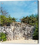 Cliff Stairs 2 Acrylic Print