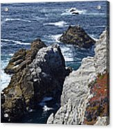 Cliffs And Coastline At California's Point Lobos State Natural Reserve Acrylic Print by Bruce Gourley