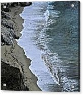 Cliffs And Surf Big Sur Coast Acrylic Print by Elery Oxford