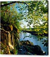 Cliffs And Trees Along Malanaphy Acrylic Print
