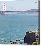 Cliffs Near Golden Gate Bridge Acrylic Print