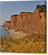 Cliffs Of Cape D'or From A Promontory Over Advocate Bay-ns Acrylic Print