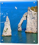 Cliffs Of Etretat France Acrylic Print