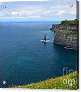 Cliffs Of Moher Looking North Acrylic Print