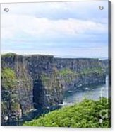 Cliffs Of Moher Panorama 3 Acrylic Print