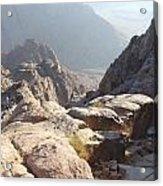 Cliffs Of Mount Sinai Acrylic Print