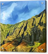 Cliffs On The Na Pali Coast Acrylic Print