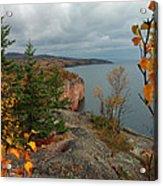 Cliffside Fall Splendor Acrylic Print