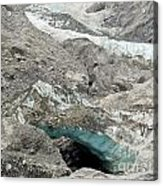 Climate Change Melting Glacier Ice And Sheer Rock Acrylic Print