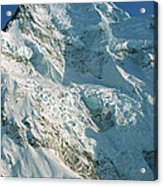 Climber Enjoying View Of Mt Cook Acrylic Print