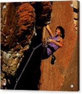 Climber, Red Rocks, Nv Acrylic Print