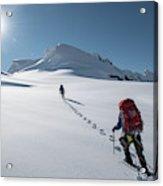Climbers Nearing The Summit Acrylic Print