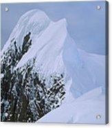 Climbers On Summit Ridge Of Mt Scott Acrylic Print