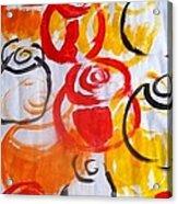 Climbing Roses  Acrylic Print