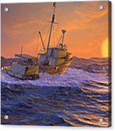 Climbing The Sea Acrylic Print