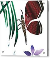 Clinging Butterfly Acrylic Print by Earl ContehMorgan