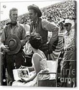 Clint Eastwood  Eric Fleming Characters Rowdy Yates Salinas California 1962 Acrylic Print