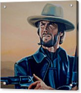 Clint Eastwood Painting Acrylic Print