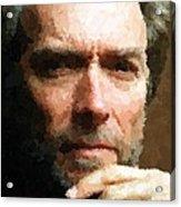 Clint Eastwood Portrait Acrylic Print