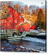 Clinton Mill In Winter Acrylic Print