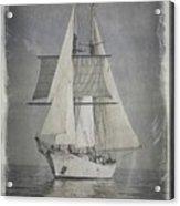 Clipper Under Sail Acrylic Print