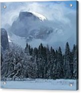Cloaked In A Snow Storm Acrylic Print by Heidi Smith