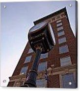 Clock Against The Tower Acrylic Print