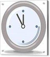 Clock Five Mintures Before Twelve Acrylic Print