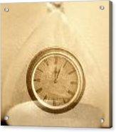 Clock In An Hour Glass Acrylic Print