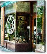Clock Shop Acrylic Print