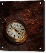 Clock - Time Waits Acrylic Print by Mike Savad