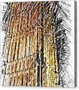 Clock Tower At Night Acrylic Print
