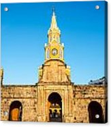 Clock Tower Gate Acrylic Print