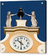 Clock Tower In Bardolino Acrylic Print