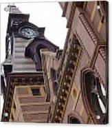 Clock Tower In New Haven Connecticut Acrylic Print