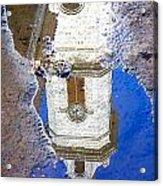 Clock Tower Reflected Acrylic Print