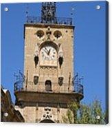Clocktower - Aix En Provence Acrylic Print