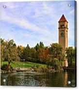 Clocktower And Autumn Colors Acrylic Print