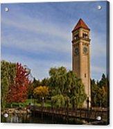 Clocktower Fall Colors Acrylic Print