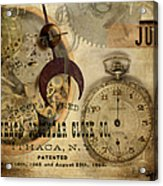 Clockworks Acrylic Print by Fran Riley