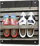 Clogs In A Rack Acrylic Print