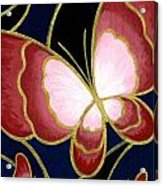 Cloisonne Butterfly Acrylic Print by Elaina  Wagner